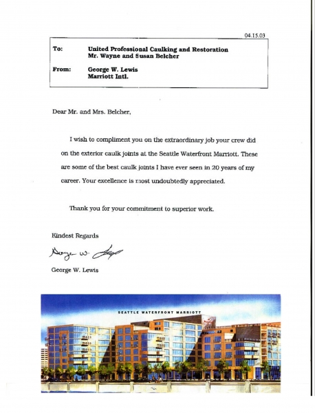 Customers Letters - Premium Building Envelope And Restoration